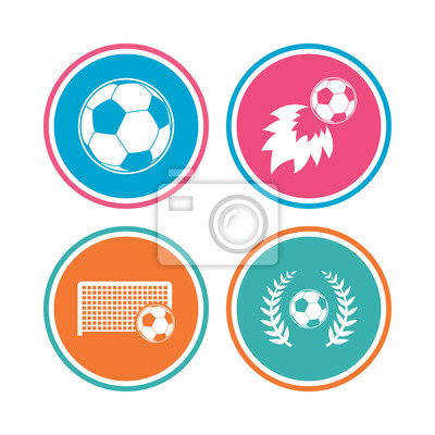 Fussball Symbole Fussball Zeichen Torwart Tor Symbol