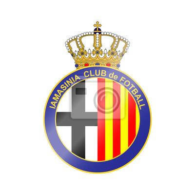 Fussball Team Logo Der Name Und Die Farbe Fiktiv Hier