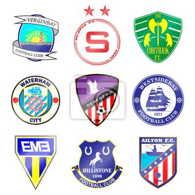 Fussball Team Logo Einstellen Die Namen Der Teams Sind