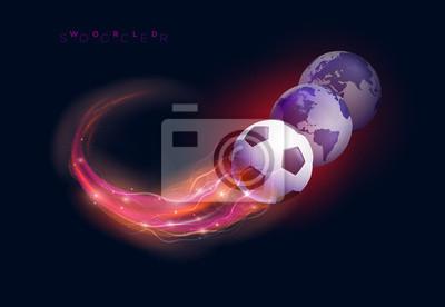 Fußball und Weltkugeln