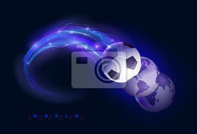 Fußball-Welt Design-Konzept