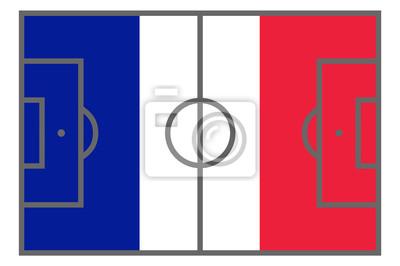 Fussballfeld In Blau Weiss Rot Fototapete Fototapeten