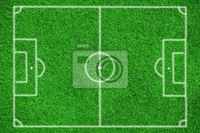 Fototapete Fussballfeld Von Oben In Der Draufsicht