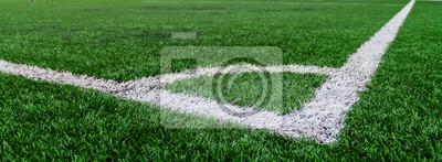 Fußballplatz Gras conner