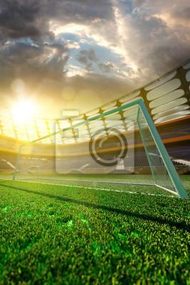 Fußballstadion in Licht Tag