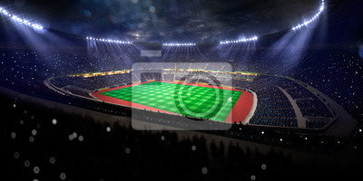 Fußballstadion, Trophy, Beleuchtungskörper, Gras, Flutlichter