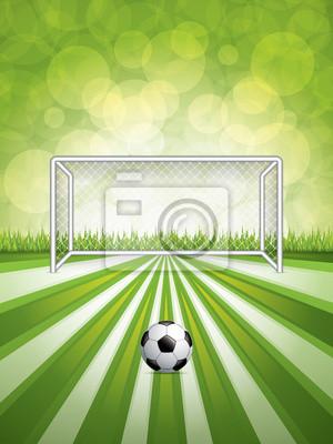 Fußballtor und Ball
