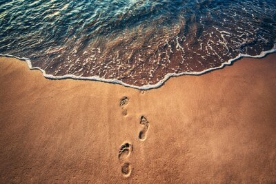 Fototapete Fußspuren am Strand