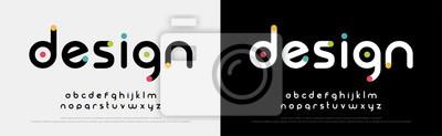 Fototapete Future font creative modern alphabet fonts. Typography colorful bold witn color dot regular. vector illustrator