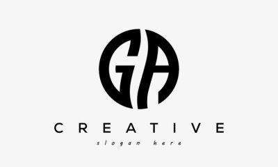 Fototapete GA creative circle letter logo design