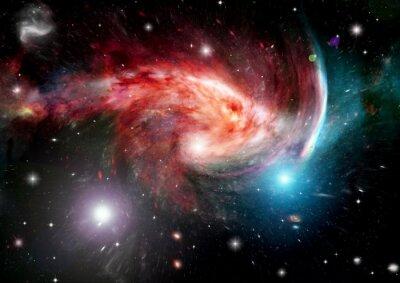 Fototapete Galaxie in einem freien Raum
