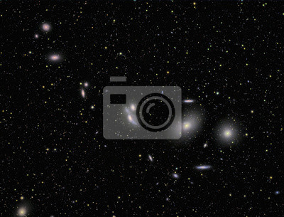 Galaxien mit einer telecope und einem wissenschaftlichen CCD-Kamera abgebildet