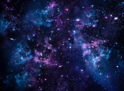 Fototapete Galaxy, abstrakten blauen Hintergrund