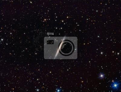 Galaxy mit einem telecope und einem wissenschaftlichen CCD-Kamera abgebildet