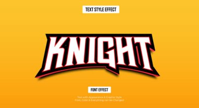 Fototapete Gaming esport style text effect, Editable text effect