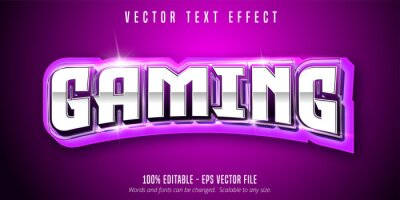 Fototapete Gaming text, sport style editable text effect