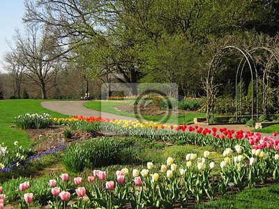 Garten Landschaft Fototapete Fototapeten Parklandschaft Gärtner