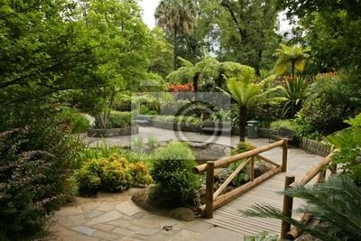 Garten Landschaft Fototapete Fototapeten Gehweg Fußweg Route
