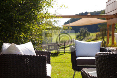 Garten Rattan Lounge Fototapete Fototapeten Gehege Markise