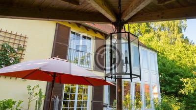 mediterraner stil garten, garten terrasse im mediterranen stil fototapete • fototapeten, Design ideen