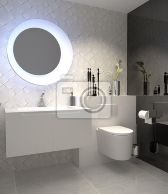Fototapete: Gäste-wc toilette wc fliesen fliesendekor fliesenmosaik