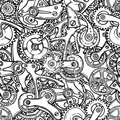 Gears Glühbirne Skizze