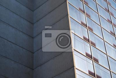Fototapete Gebaude Ecke Beton Glasfenster Moderne Architektur Wolkenkratzer
