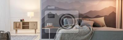 Fototapete Gebirgstapete im Schlafzimmer