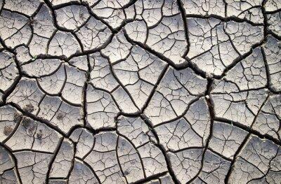 Fototapete Gebrochene Ton Boden in der trockenen Sommersaison