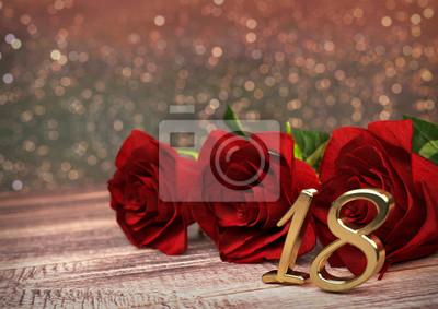 Zum rote geburtstag rosen Rosen zum