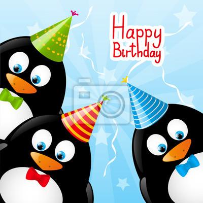 Geburtstagskarte mit pinguin