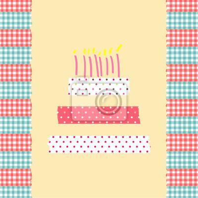 Geburtstagskuchenkarte