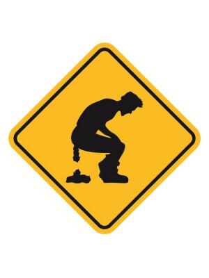 Gefahr Warnzeichen Bord Logo Vorsicht Vorsicht Zone Große Toilette