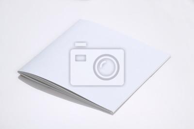 Gefaltete weiße blank broschüre magazin cover für mockups fototapete ...