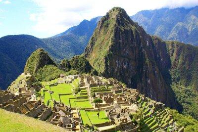 Fototapete Geheimnisvolle Stadt Machu Picchu, Peru.
