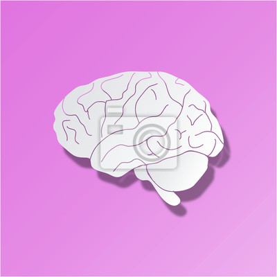 Gehirn hintergrund hirn icon web buttom knopf fototapete ...