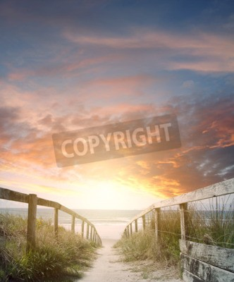 Fototapete Gehweg zum Strand-Szene