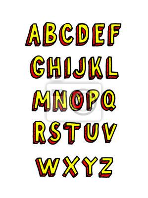 Gekritzelziegelstein. Vektor-Alphabet