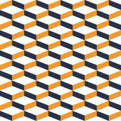 Fototapete Gelbe geometrische Illusion Nahtlose Muster
