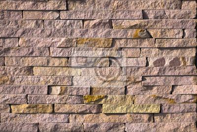 Fototapete Gelbe Naturstein Fassade, Wand Fliesen Textur