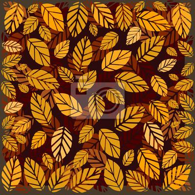 Gelbe und rote Blätter. Vektor-Illustration, eps10