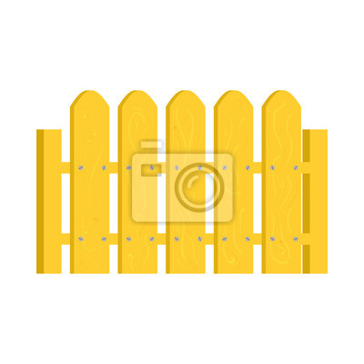 Gelbe Zaun Symbol Im Cartoon Stil Fototapete Fototapeten Zimmerei