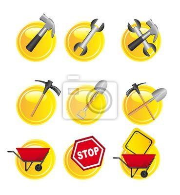 gelben Schildern