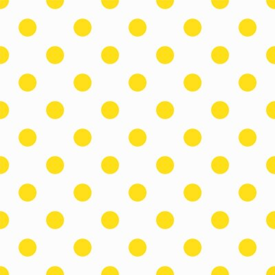 Fototapete Gelbes Tupfenmuster