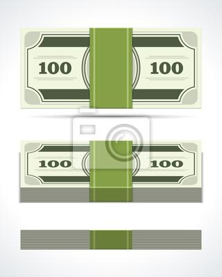 Geld Dollar Münze In Sicht Vektor Design Element Fototapete