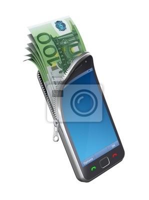 Geld im Mobiltelefon