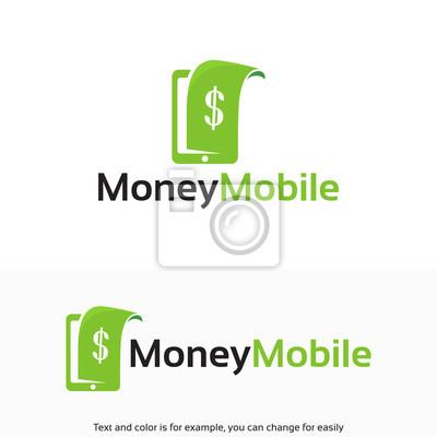 Geld mobile logo vorlage, digital money logo designs vorlage ...