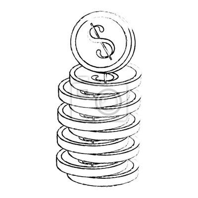 Geld Münzen Symbol Fototapete Fototapeten Geld Sparen Verdienen
