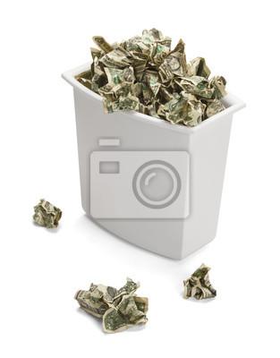 Geld-Papierkorb