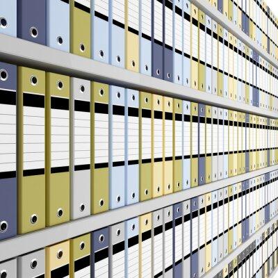 Fototapete Geldbuße Image 3D von Archiv-Ordner Hintergrund
